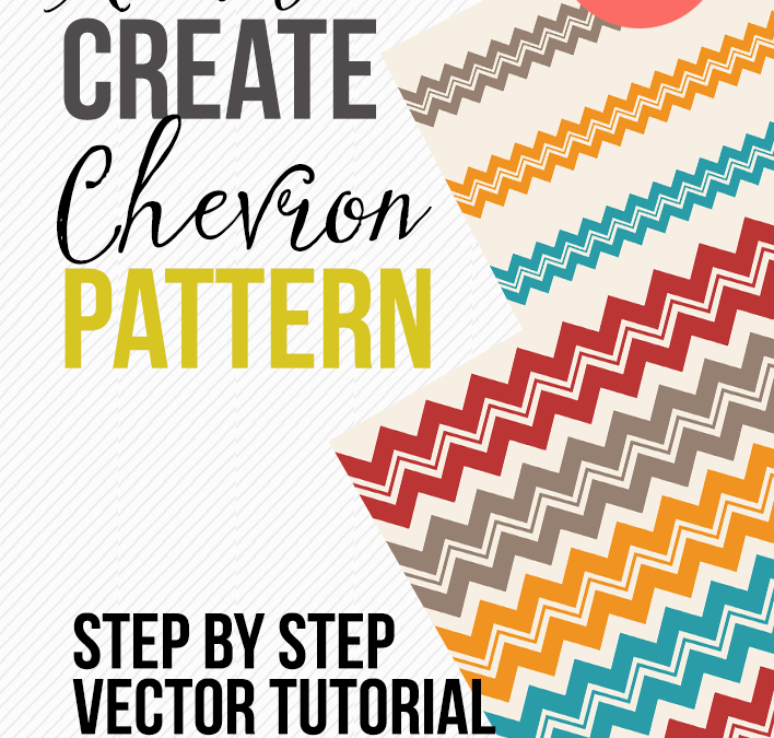 illustrator Tutorials : How to create a Chevron vector graphics patterns illustrator
