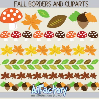 Fall Halloween Clipart images graphic illustrations for commercial use
