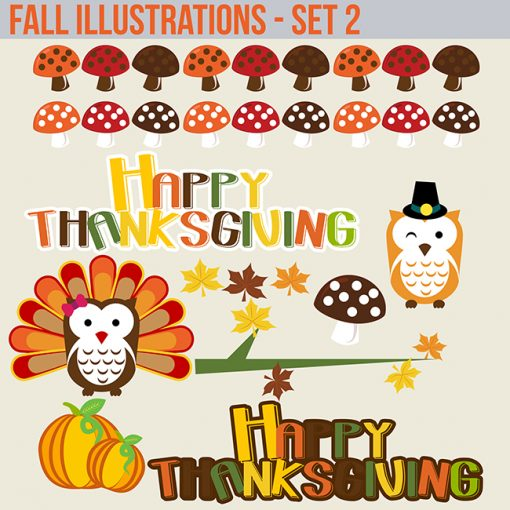 Fall halloween clipart and borders for commercial use