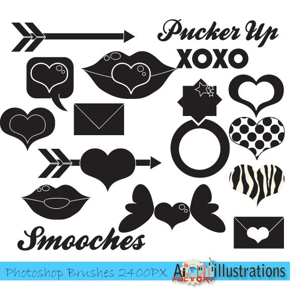 Free Valentine images Photoshop Brushes