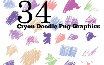 Free Graphics 34 Crayon Doodle Lines PNGs Graphics images free download