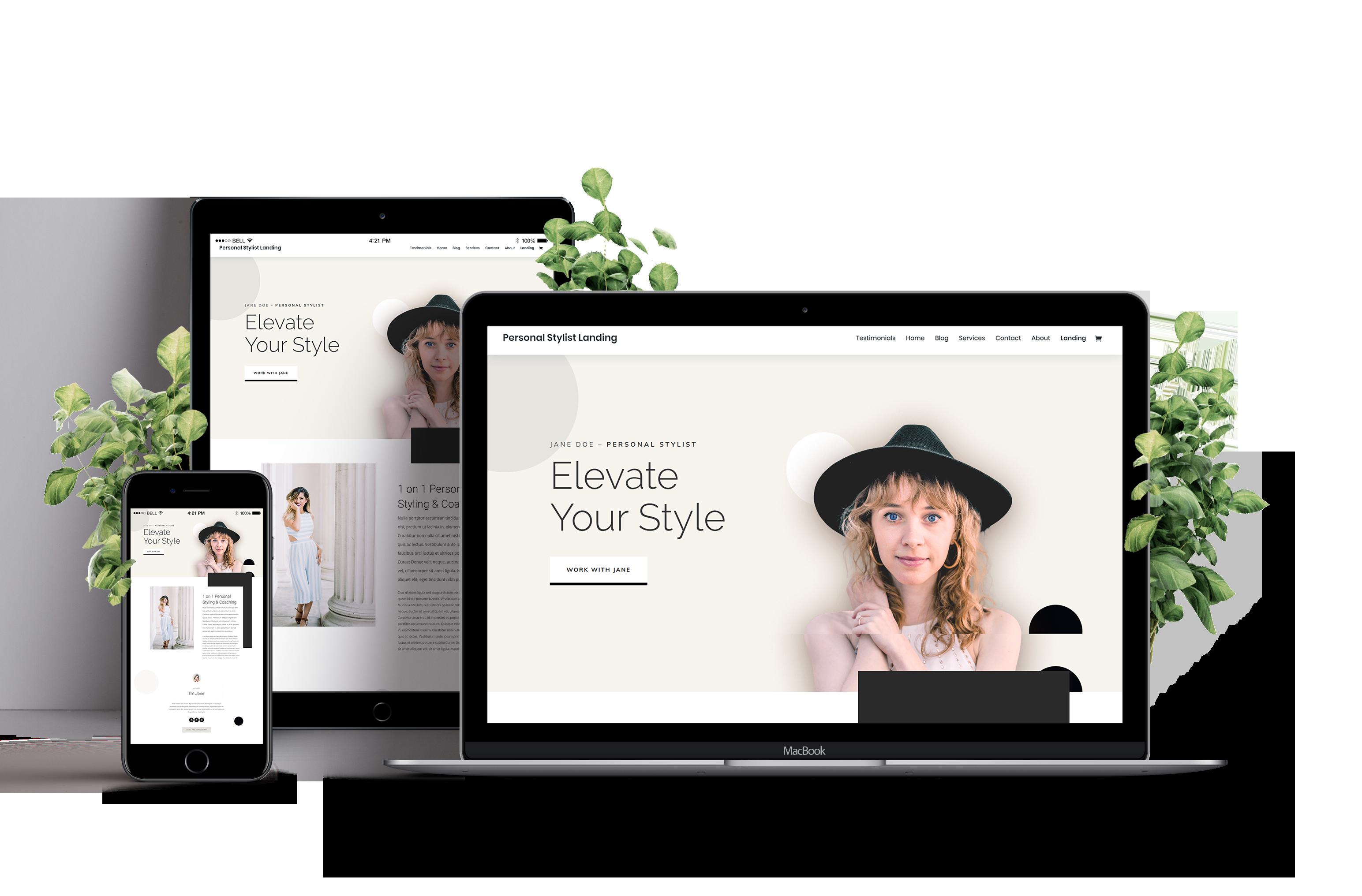 She Bliz Website Design