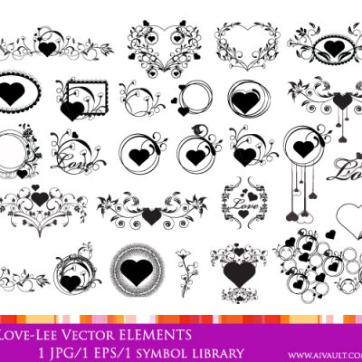 hearts and love photoshop brushes