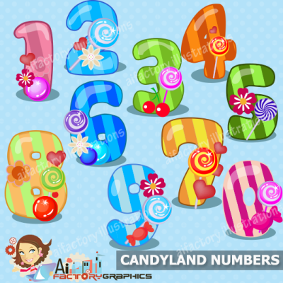 candy clipart illustration numbers